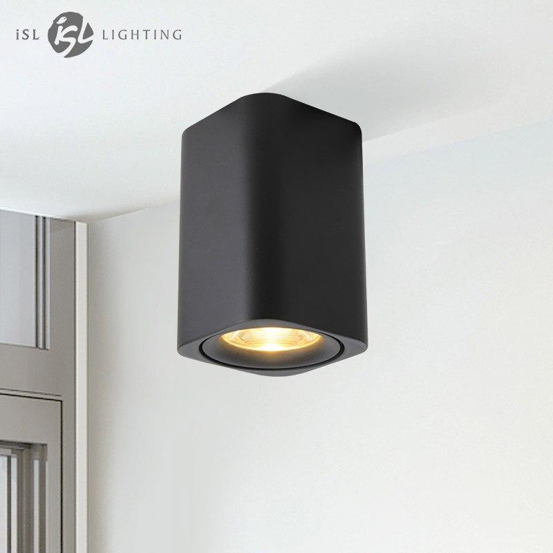 Isl Carré LED Surface Monté Carré Plafond Downlight pour Chambre/Couloir/Couloir 110 v/220 v COB minimaliste Design Spot