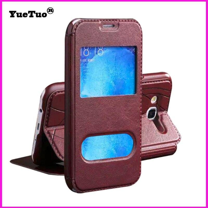 df13576ae8cc Yuetuo caso de cuero original para Huawei honor 4 c8817d teléfono cuero por  Flip clip oro correa de lujo casos de la cubierta