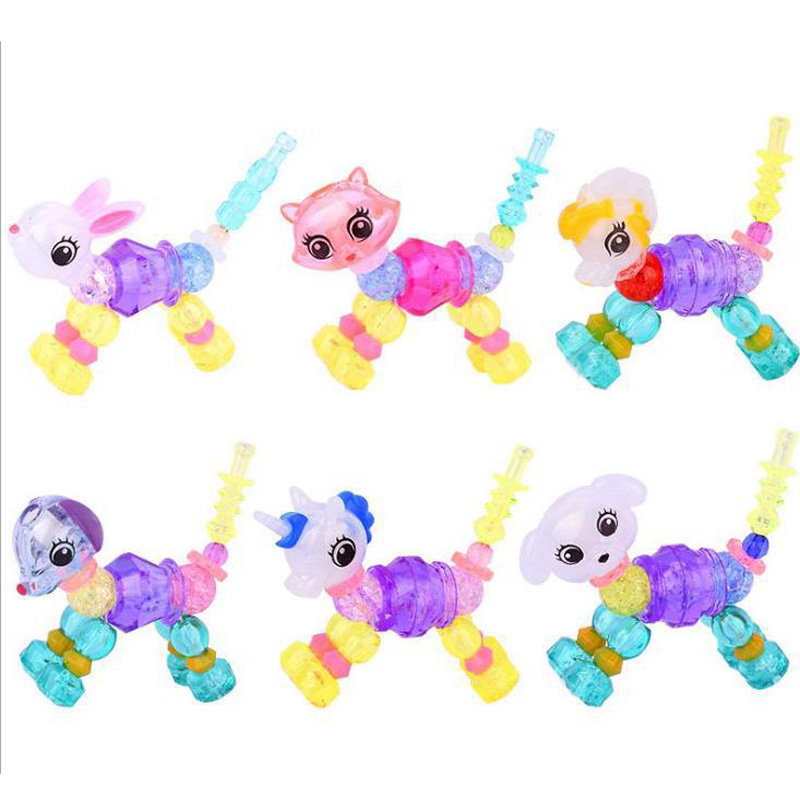 Joylong Toys For Children DIY Toys For Girls Handicraft Bracelet Cartoon Animals Weaving Bands For Creativity And Crafts Childs