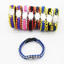 Custom baseball Football Paracord Survival Outdoor Camping Sports Bracelet Friendship Rope 550 7 Bracelets For Women Men Jewelry