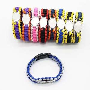 Image 1 - Custom baseball Football Paracord Survival Outdoor Camping Sports Bracelet Friendship Rope 550 7 Bracelets For Women Men Jewelry