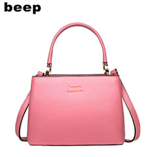Beep Brand 2017 New Superior cowhide Luxury fashion Genuine Leather bag tote women leather shoulder bag