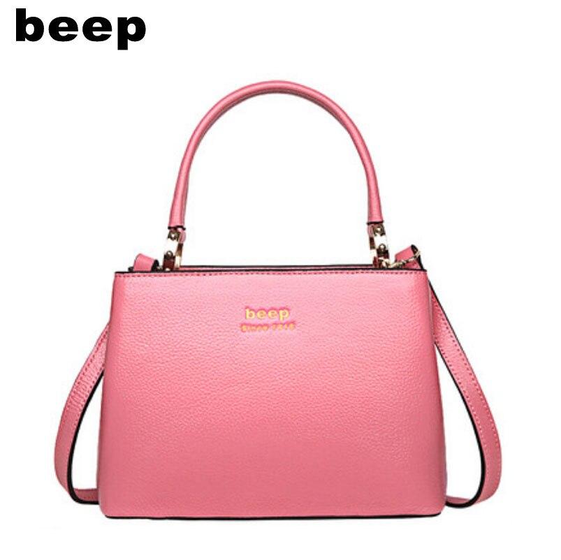 Beep Brand 2017 New Superior cowhide Luxury fashion Genuine Leather font b bag b font tote