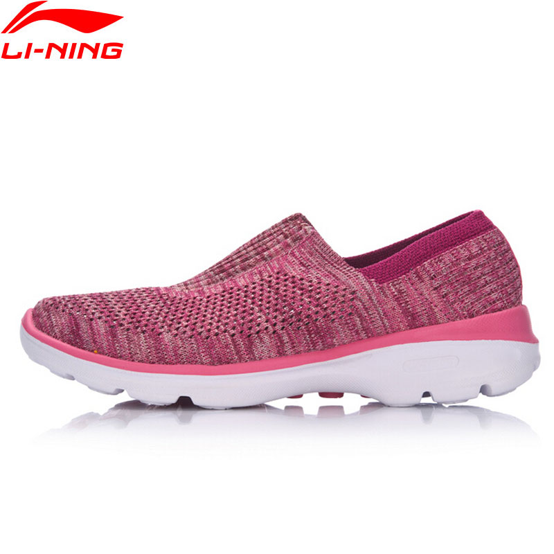Li-Ning Women The Trend Easy Walker Walking Shoes Textile Breathable Light Weight LiNing Sports Shoes Sneakers AGCM112 YXB048 li ning women walking shoes light weight textile