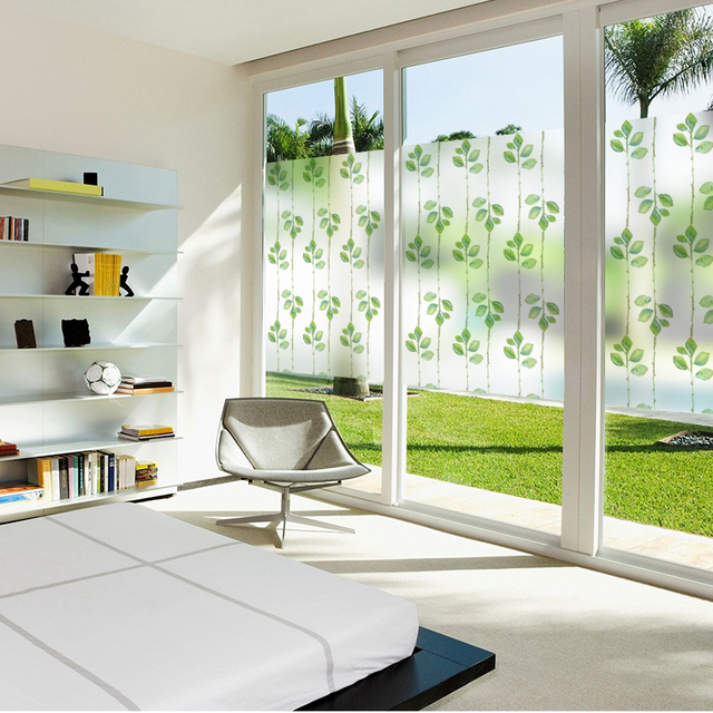 Free Custom Stained Static Cling Window Film Frosted Opaque Privacy Glass Sticker Home Decor Digital Print