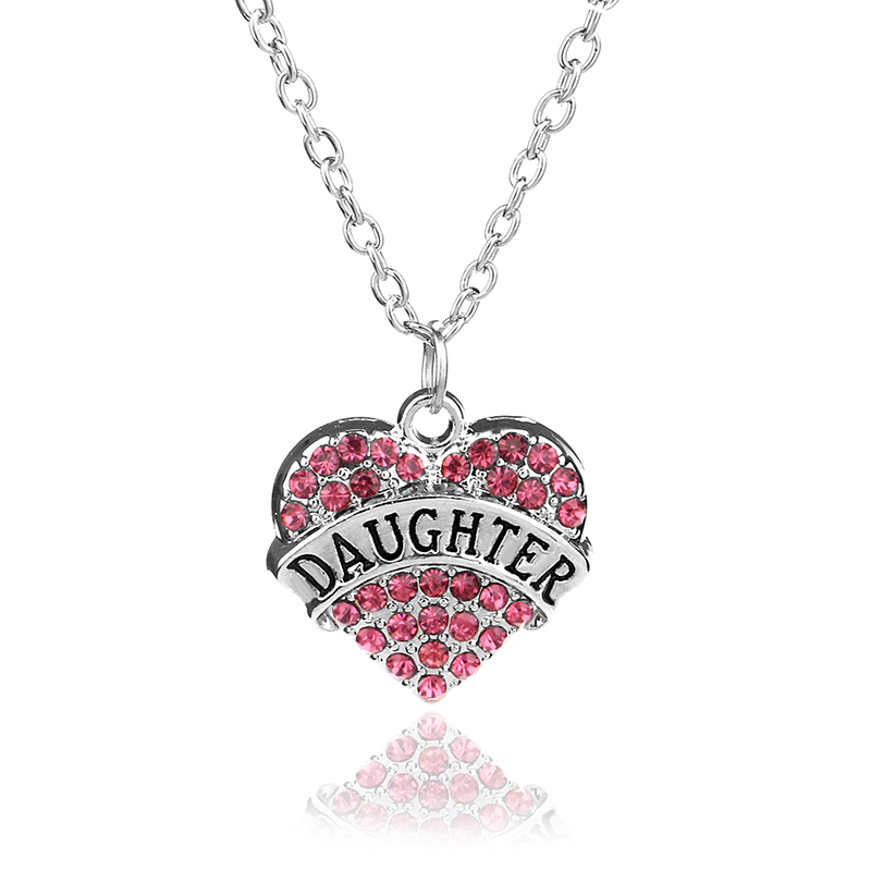 Crystal Heart Necklace Love Xmas Gifts For Wife Her Mother Daughter Sister Women