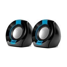 Колонки пластмассовые 2.0 AC SVEN 150, чёрный-синий (5 Вт, питание USB)