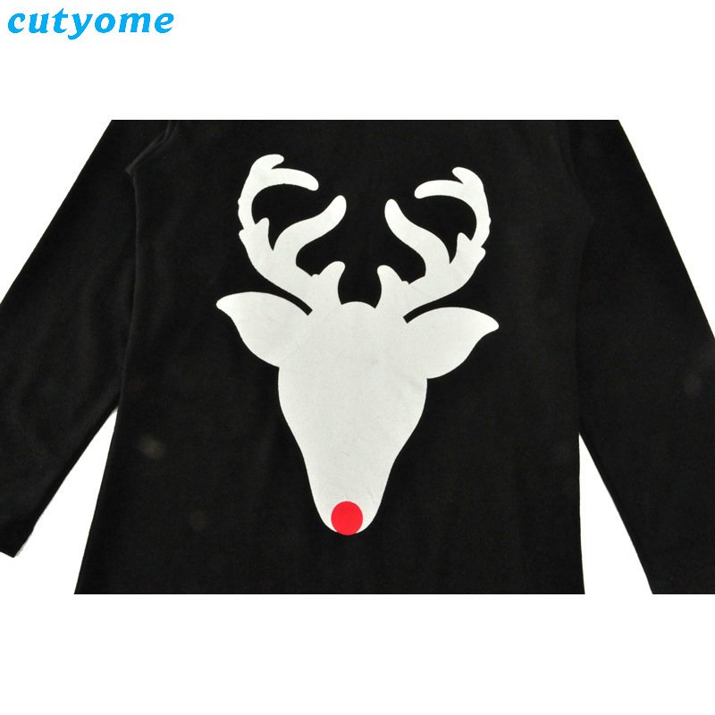 Matching Mother And Daughter Clothes Long Sleeve Dress Christmas Deer Printed Baby Girls Women Dresses Matching Look Outfits (3)