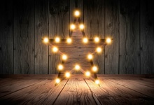 все цены на Laeacco Wooden Board Five-pointed Star Lamp Baby Photography Backgrounds Customized Photographic Backdrops For Photo Studio онлайн