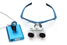 Büyük Promosyon SY-27 Diş Cerrahi Tıp Dürbün Loupes 3.5X420mm + LED Başkanı Işık Lambası Mavi
