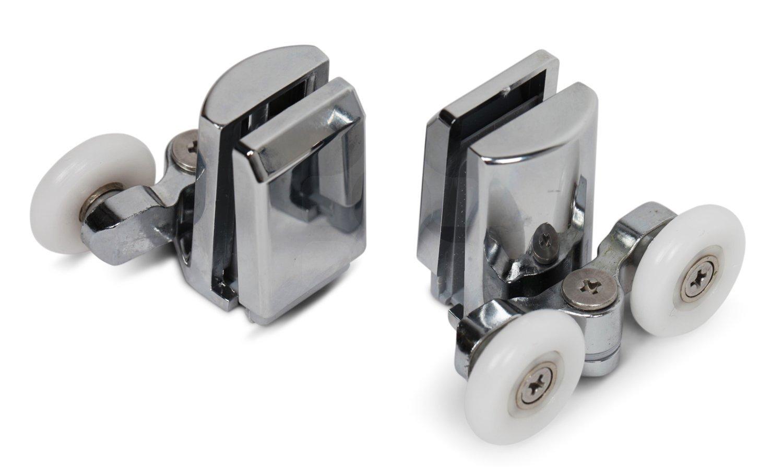 4Pcs Shower Screen Door Rollers Runners Wheels 25mm Replacement UK Seller