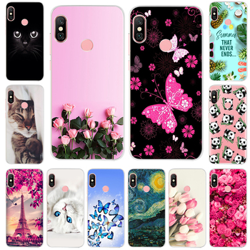Silicone Phone Case For Xiaomi Redmi Note 6 Pro 5 Global Version Fashion Soft TPU Back Cover For Xiaomi Redmi Note 5 6 Pro Case image