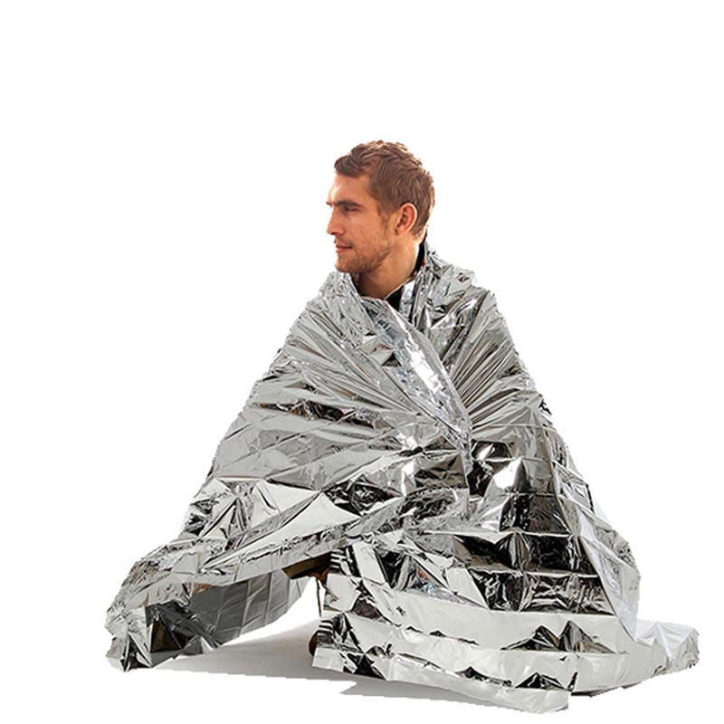 Portable Waterproof Emergency Space Rescue Thermal Mylar Blankets 1.4m X 2.1m QJY99