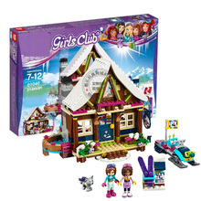 Girls Princess Snow Resort Chalet Model Kids Building Kits Blocks DIY Toys Gift Same Model 41323