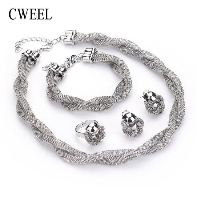 Ensemble de bijoux CWEEL  collier bracelet bague 3