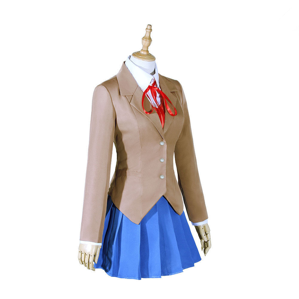 Game Doki Doki Literature Club Monika Cosplay Sayori Yuri Natsuki Cosplay Women Costumes Costume School Uniform role play Girl