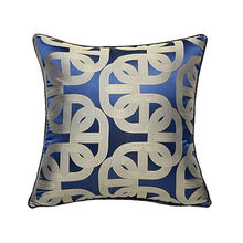 Deluxe Contemporary Geometric Blue Ellipse Sofa Chair Designer Throw Cushion Cover Decorative Square Home Pillow Case 45 x 45cm