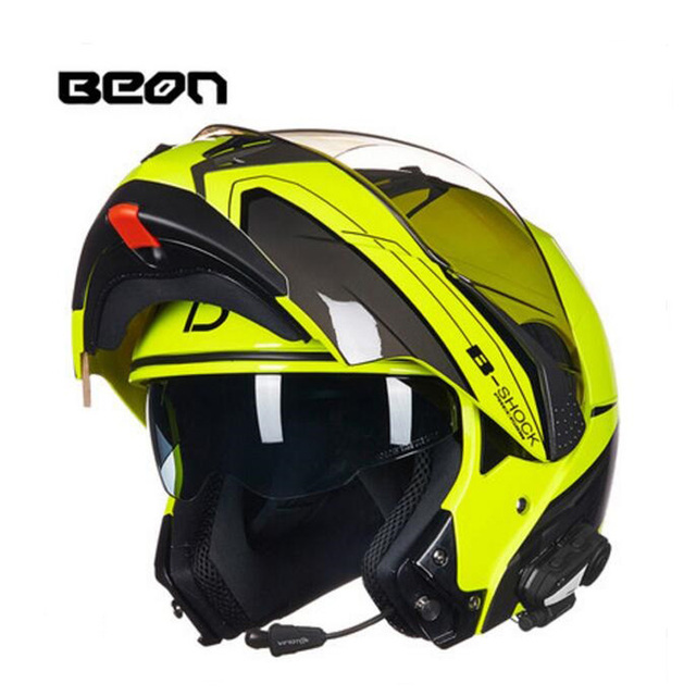 2019 New Netherlands BEON undrape face motorcycle helmet open face motorbike helmets with Bluetooth made of ABS PC lens visor 5