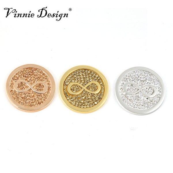 ᗕVinnie Design joyería 33mm Deluxe infinito disco de monedas para ...