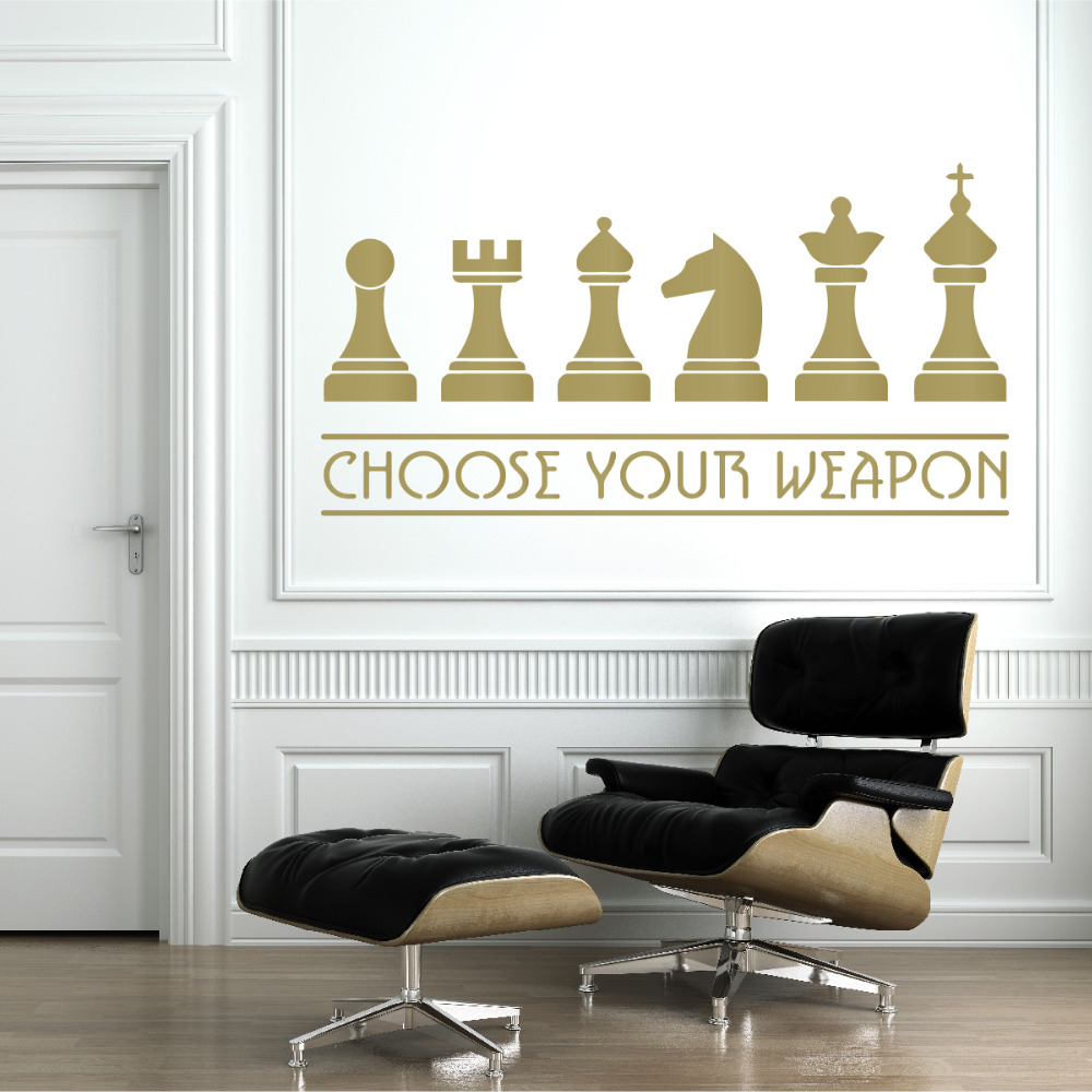 Chess Weapons Wall Decal Living Room Home Decoration E co Friendly ...