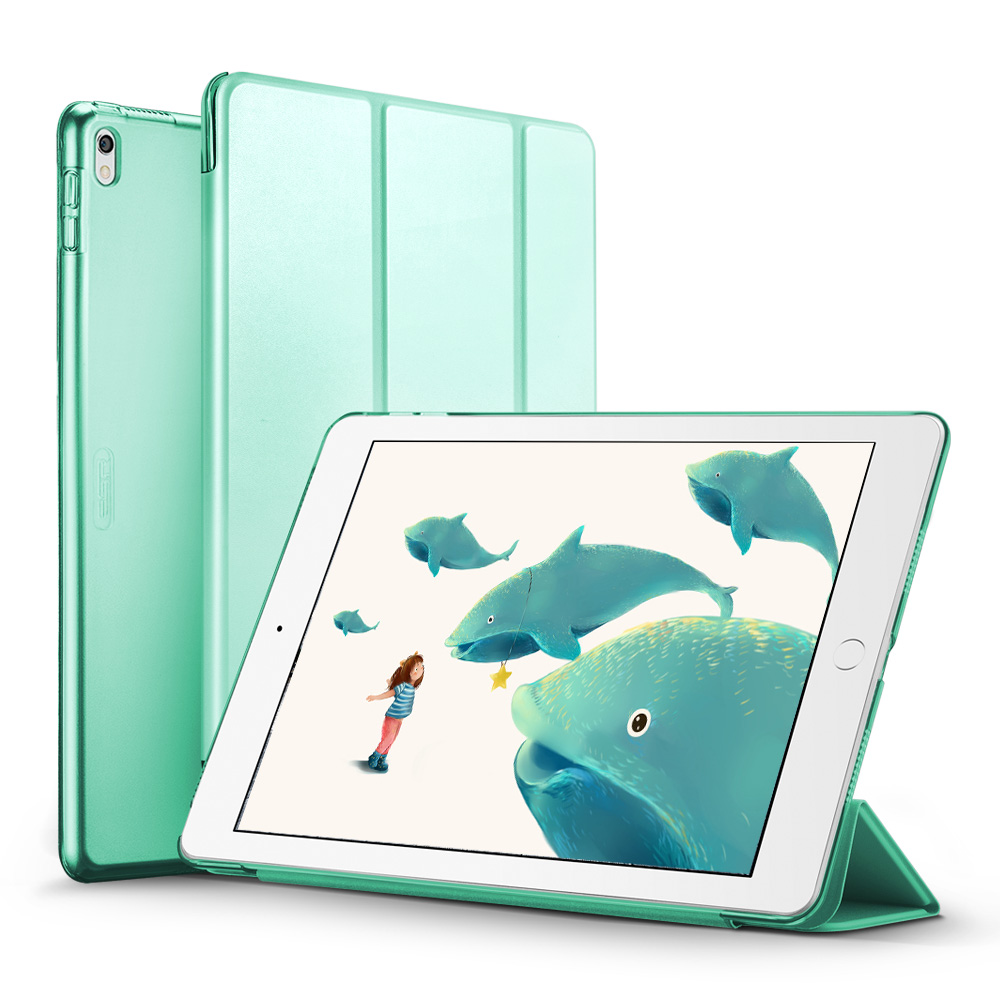 Case For Ipad Pro 10.5 Inches Yippee Color PU Leather Transparent PC Back Ultra Slim Light Weight Trifold Smart Cover Case