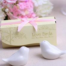 40 шт./партия = 20 компл./лот(1 комплект из 2 предметов), 2013 новейший свадебный сувенир, любовь птица соль перец шейкер 5 цветов