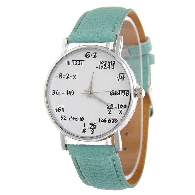 8e036024614e 10 Mix color hombres reloj Relogio masculinos dial reloj hombre reloj cuero  matemáticas avanzadas caja redonda