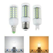 цена на NEW LED lamp E27 E14 G9 3W 5W 7W 12W 15W 18W SMD 5730 Corn Bulb 220V Chandelier LEDs Candle light Spotlight