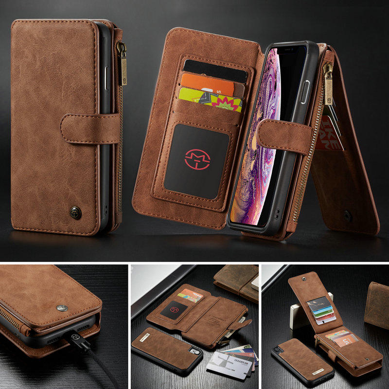 info for 8f2ed 3b2fe US $12.59 30% OFF|CaseMe Wallet Case For iPhone Xs Max 2 in 1 Magnetic  Detachable Leather Case For iPhone Xs /For iPhone Xr Wallet Flip Stand  Case-in ...