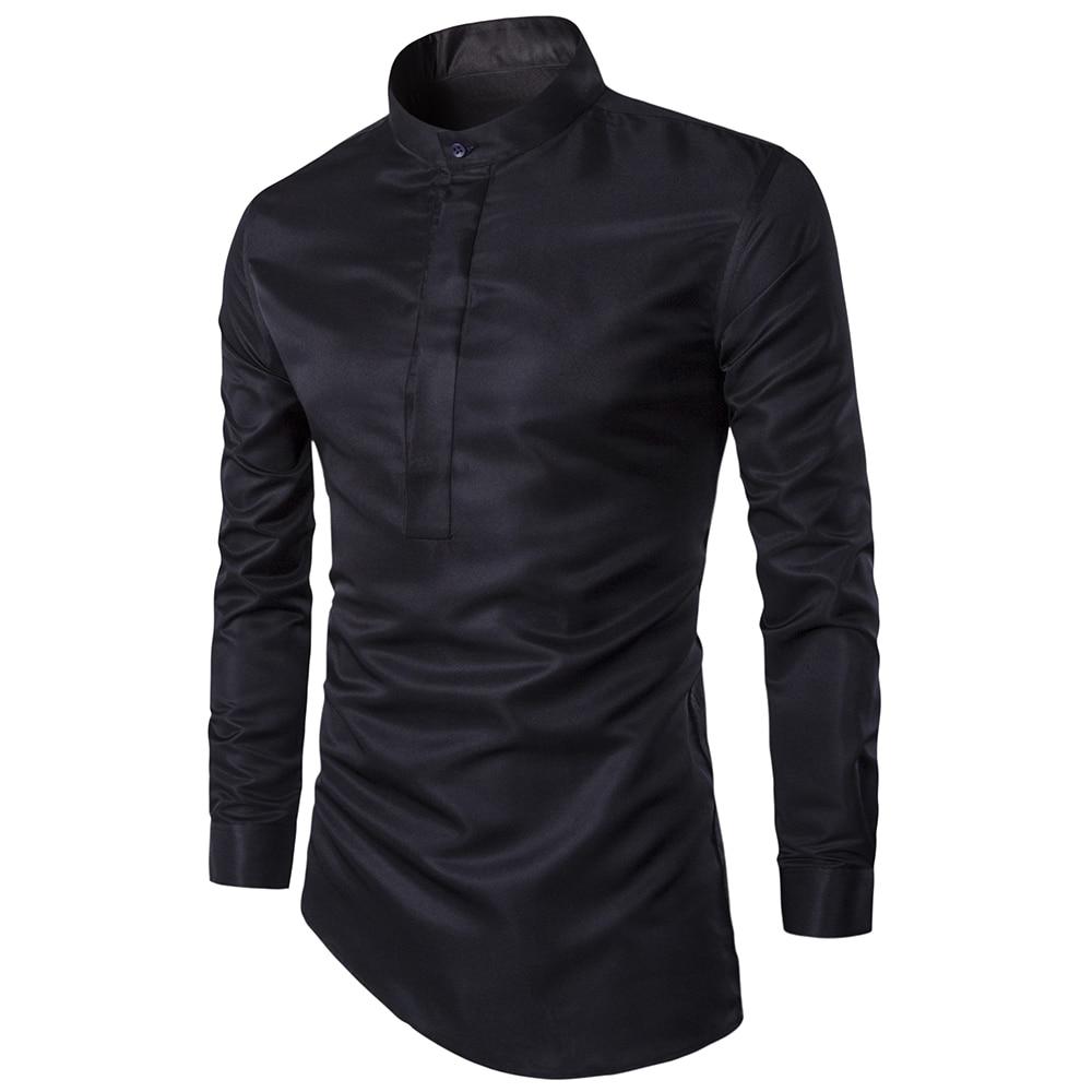 2017 Mens Di Modo Camicia Discoteche Stile Orlo Obliquo Camisa Masculina Sociale Uomo Slim Fit Sexy Club Indossando Chemise Homme M-3xl