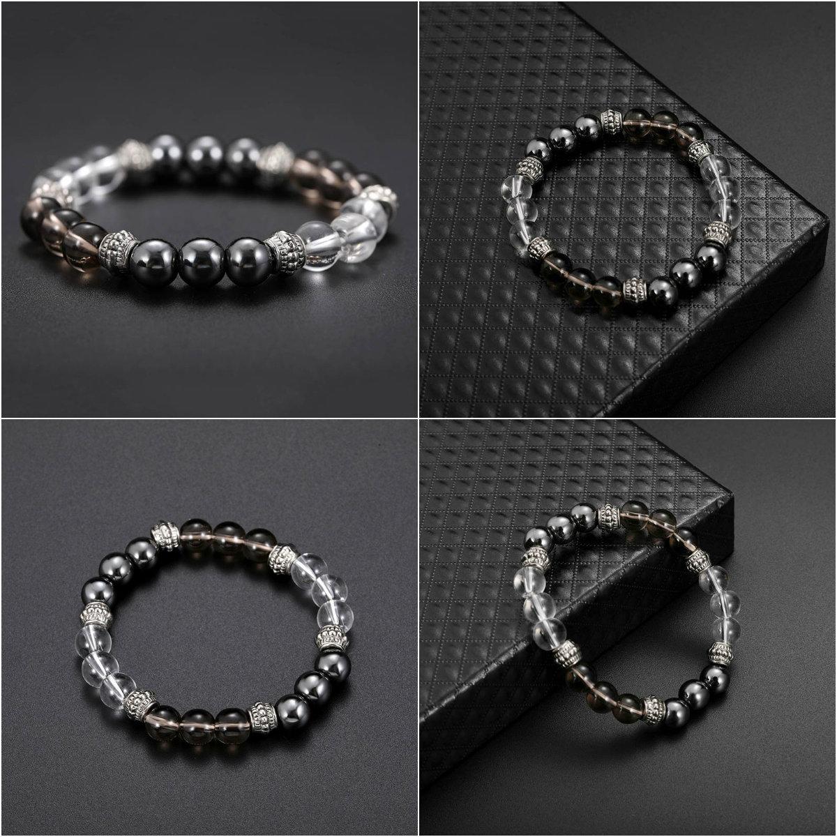 Cool Magnetic Bracelet Beads Hematite Stone Therapy Health Care Magnet Hematite Beads Bracelet Slimming Product