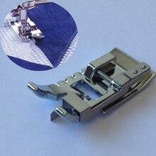 Máquina de coser para el hogar piezas de borde de Unión/puntada en la zanja máquina de coser prensadora pie-se adapta a todos los vástago bajo 7YJ35-2