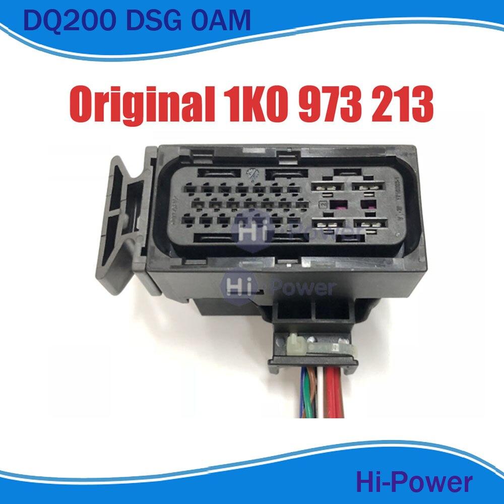 25 pinów/sposób mechatroniki wiązki przewodów DQ200 0AM DSG 7 prędkości złącze wtykowe z Pigtail dla Audi Beetle Caddy golf 1K0 973 213
