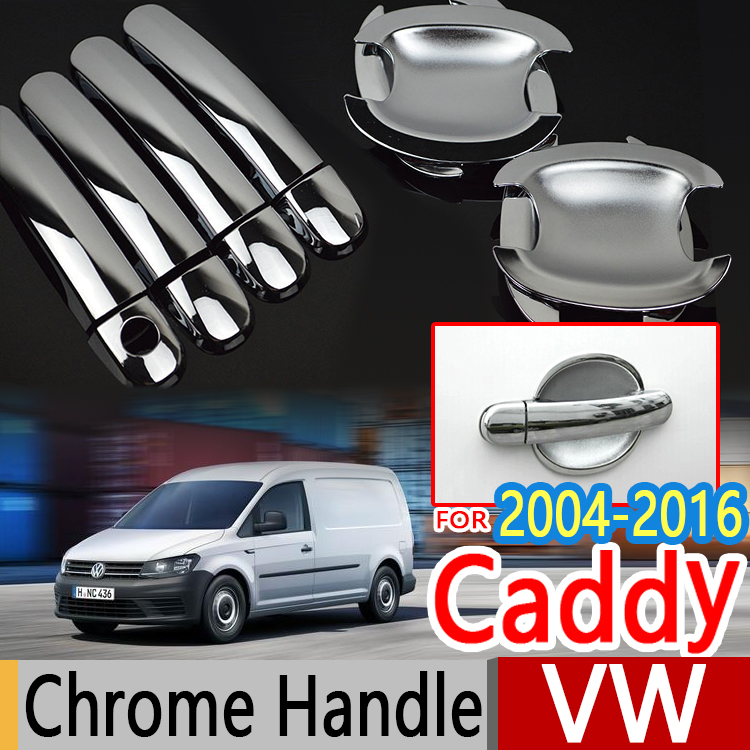 For VW Caddy 2004-2016 2K Chrome Door Handle Covers Trim Set Volkswagen Car Accessories Car Styling 2005 2008 2010 2015 TDI TSI