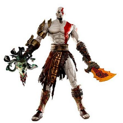 God of War  7.5 NECA God of War Kratos in Golden Fleece Armor with Medusa Head PVC Action Figure Collection Model Toy Retail