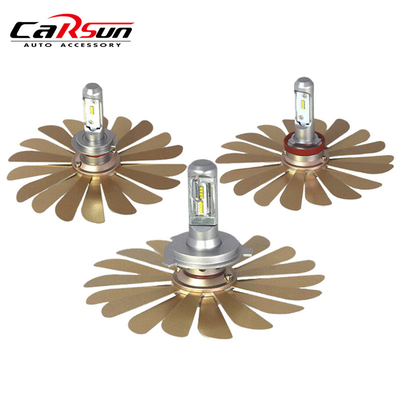 2018 New Car Led Light ZES 100W 12000LM/Pair Headlights H4 Led Bulb H1 H3 H7 H8 H11 9005 HB3 9006 HB4 12V Auto Lamp Automobiles цены