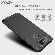 Dla Asus Zenfone 6 ZS630KL przypadku zbroja ochronna miękki futerał na telefon TPU etui na Asus Zenfone 6 pokrywa dla Zenfone 6 ZS630KL
