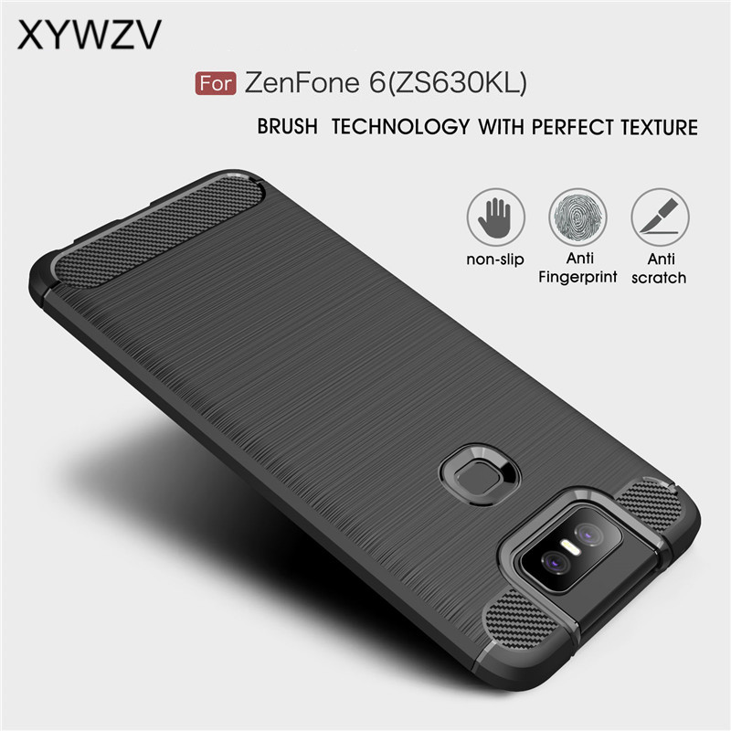 For Asus Zenfone 6 ZS630KL Case Armor Protective Soft TPU Silicone Phone Case For Asus Zenfone 6 Cover For Zenfone 6 ZS630KL-in Fitted Cases from Cellphones & Telecommunications