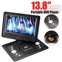 13 8 Mini DVD Player Portable Car TV CD Digital Multimedia Player Swivel USB SD Support