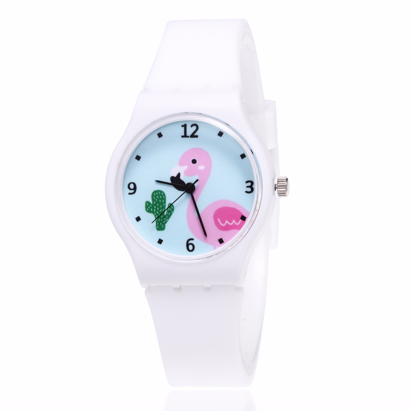 2019 New Leisure Fashion Silicone Flamingo Quartz Watch For Children, Students And Girls
