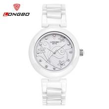 Relogio Feminino Watch Women LONGBO Brand Diamond Casual Quartz-Watch Ladies Gift Luxury Women Dress Ceramic Watches Relojes