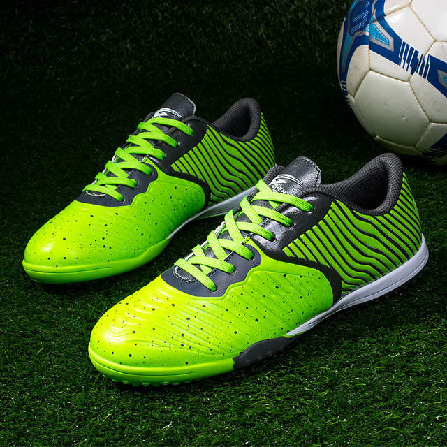 6b43de7f8 Indoor Men Football Shoes Sport Street Soccer Shoes Male Sneakers PU 3D  Printing Football Boots For