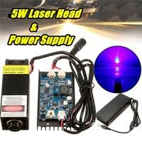 5W Laser Head Engraving Module 450nm Blue Light Marking Engraver With TTL Modulation DIY Diode Metal