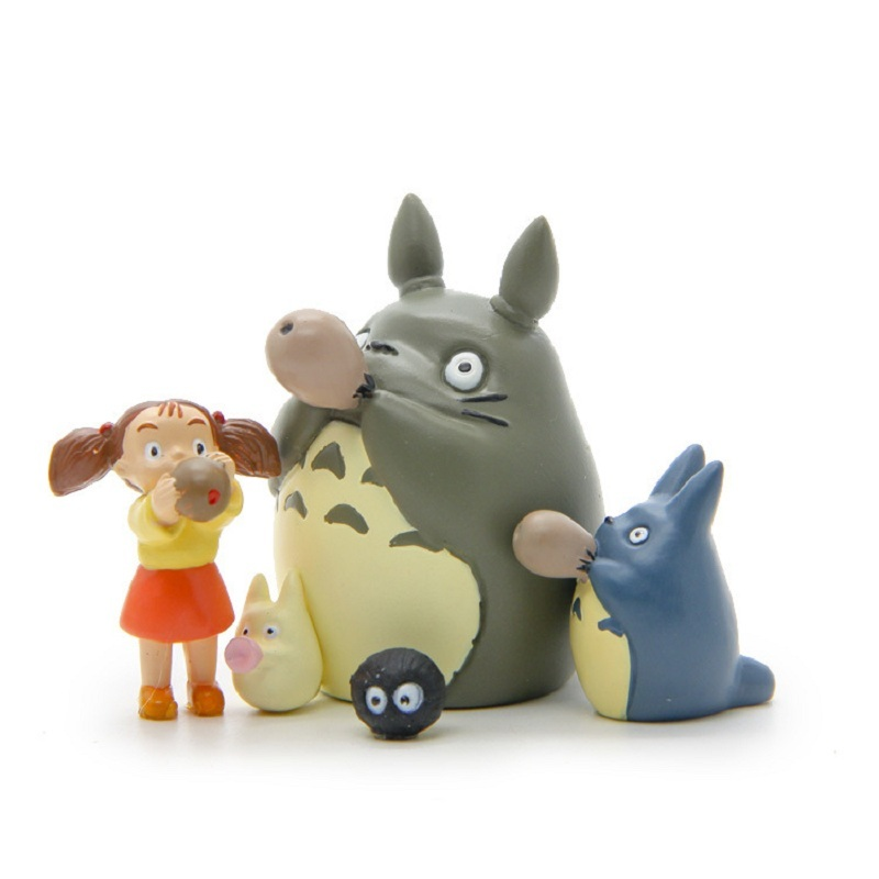 5 Styles PVC Totoro Figure Toy Miyazaki Hayao My Neighbor Totoro Blue Totoro May Blowing Xun Collection Model Toy Kids Gifts