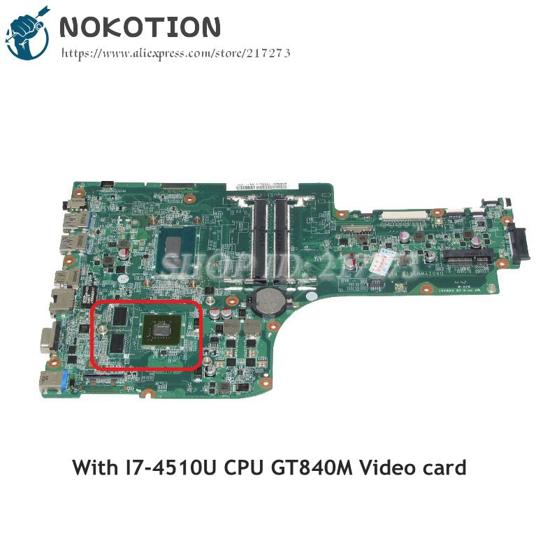 NOKOTION NBMNW11003 NB.MNW11.003 For Acer aspire E5-771G Laptop Motherboard DA0ZYWMB6E0 SR1EB I7-4510U GT840M Video card