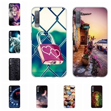 For Samsung Galaxy A7 2018 Case Soft Silicone A750 A750F Cover Floral Pattern Bag