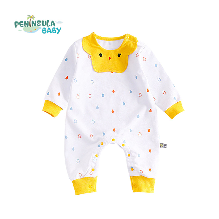 Peninsula Baby Cotton Baby Boy Clothes Newborn Baby Girl Rompers Brand Costumes Gift for 3 to 24 Months Cute Cartoon Jumpsuit fashion baby clothes cartoon baby boy girl rompers cotton animal and fruit pattern infant jumpsuit hat set newborn baby costumes