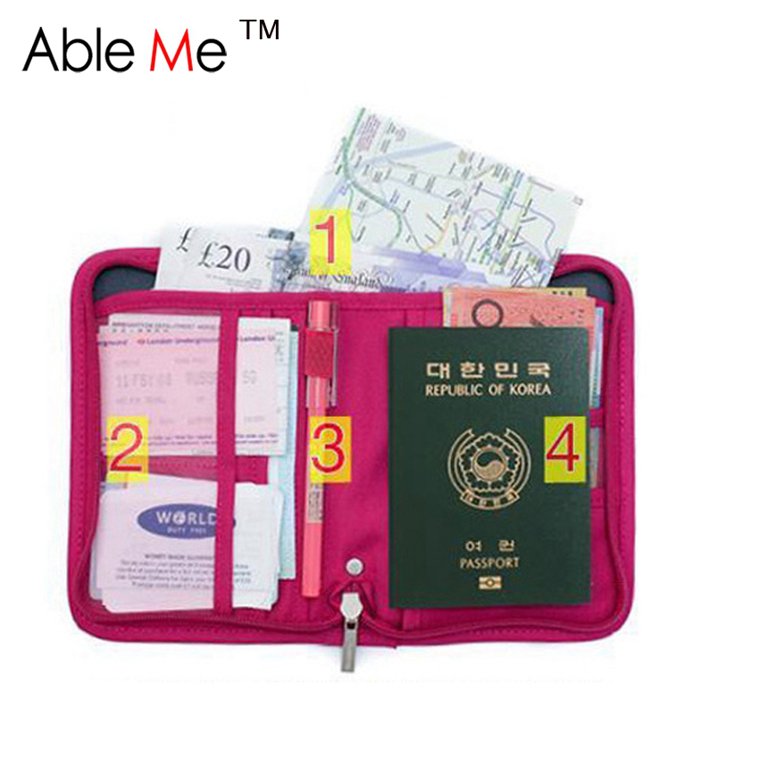 New 2017 Nylon Passport Travel Wallet Clip Credit Card Holder Small Travel Wallet Porte Feuille Femme Passport cover Wallet etya bank credit card holder card cover