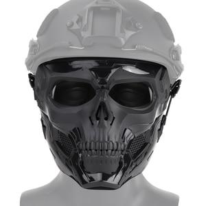 Image 4 - Тактическая Маска с черепом для пейнтбола на все лицо защитный Быстрый Шлем для военных страйкбола маски CS чехол для лица