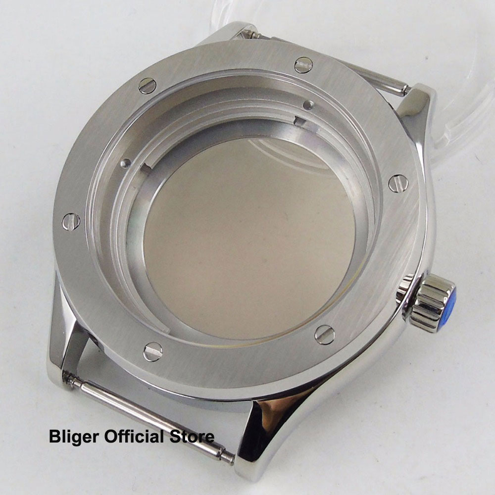 Sapphire Glass 42mm Polished Watch Case Fit NH35A Automatic Movement Men Watch